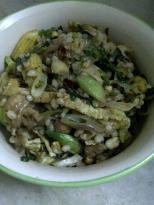 Pear Barley Stirfry, The Oriental Way